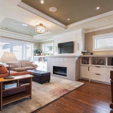 Craftsman Family Room by Kenorah Design + Build Ltd.