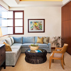Contemporary Family Room by Prestige Builders