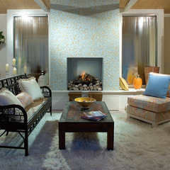 contemporary family room by Oceanside Glasstile