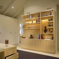 Modern Family Room by OJMR Architects