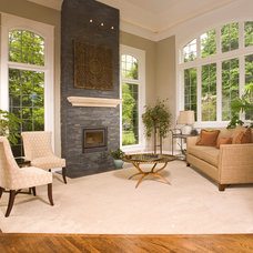 Traditional Family Room by Choice Construction