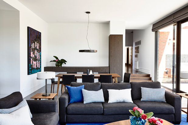 Contemporary Family Room by Camilla Molders Design