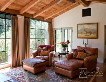 Old California Mission Style Sitting Room
