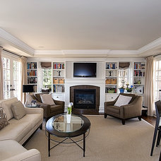 Traditional Family Room by Bette Jane Jelly Design