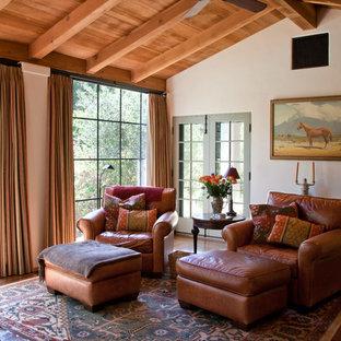 Family room - mediterranean family room idea in Los Angeles