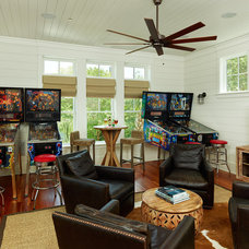 Tropical Family Room by Structures Building Company