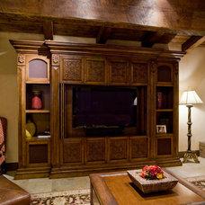 Mediterranean Family Room by Est Est, Inc.
