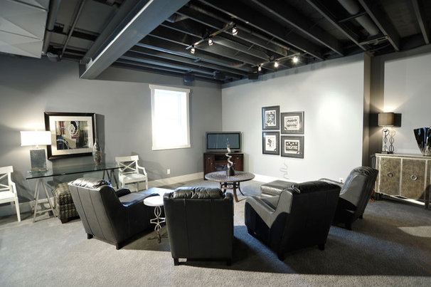 Contemporary Family Room by Weaver Custom Homes