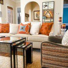 Eclectic Family Room by Kevin Twitty- IBB Designer