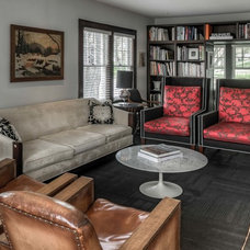 Traditional Family Room by LK Design