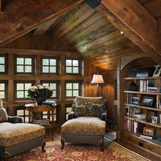 Rustic Family Room by Locati Architects