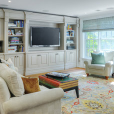 Transitional Family Room by Braam's Custom Cabinets
