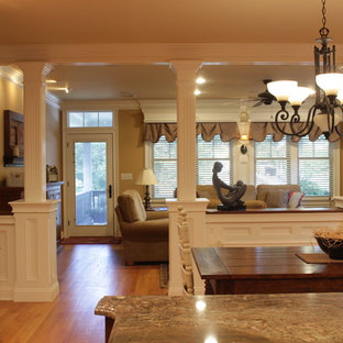 Open concept view to the family room.