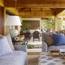Tropical Family Room by GT Design, Inc.
