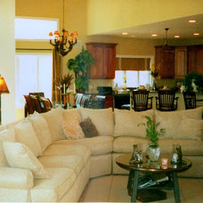 Contemporary Family Room by Betsy Finamore
