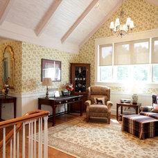 Farmhouse Family Room by Smith & Robertson, Inc.