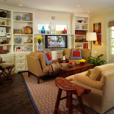 Traditional Family Room by Bonnie Sachs, ASID