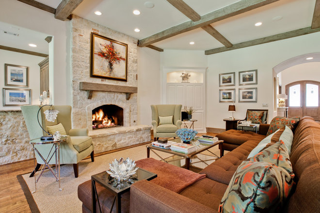 Contemporary Family Room by Rosewood Custom Builders