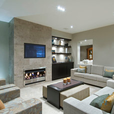 Contemporary Family Room by Masonry Design Solutions Ltd