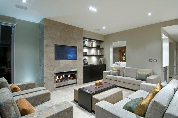 Contemporary Family Room by Masonry Design Solutions Ltd