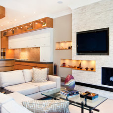 Contemporary Family Room by MAY designs