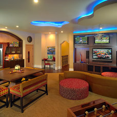 Contemporary Family Room by Busby Cabinets