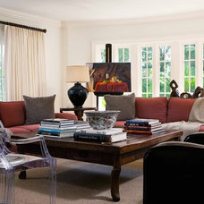 Traditional Family Room by Wolfe Rizor Interiors