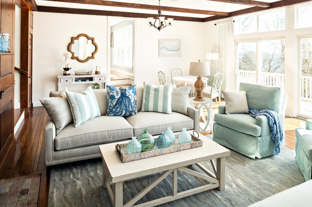 Beach Style Family Room by Cathy Kert Interiors | Allied ASID