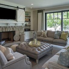 Beach Style Family Room by Stonewood, LLC