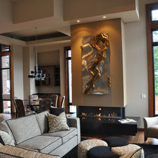 Contemporary Family Room by Ortal USA