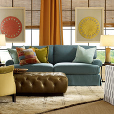 Eclectic Family Room by Caffrey's Trade Showroom