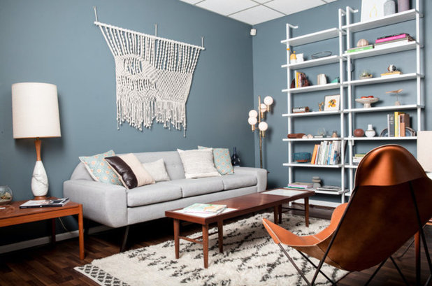 Midcentury Family Room by tandem design