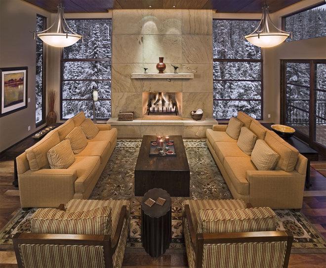 Contemporary Family Room by Kelly & Stone Architects
