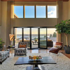 Contemporary Family Room by Axiom Luxury Homes