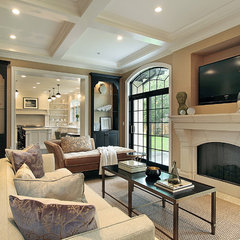 traditional family room by Oxford Development