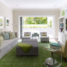 Contemporary Family Room by Martha Angus Inc.