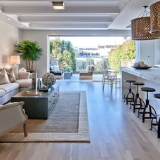 Transitional Family Room by citidev, inc