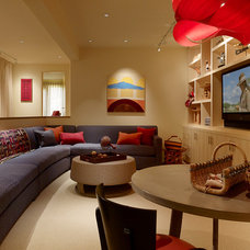 Contemporary Family Room by BIGELOW + SILVER