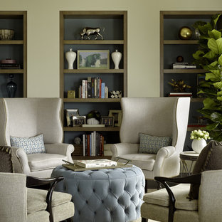 Family room - contemporary family room idea in San Francisco with beige walls and no tv