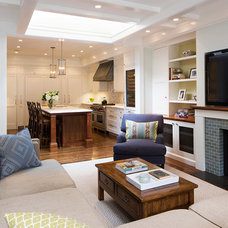 Transitional Family Room by Verner Architects