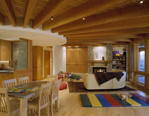 コンテンポラリー ファミリールーム by Greif Architects / LIVING ARCHITECTURE