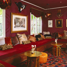 Eclectic Family Room by Allison Cosmos