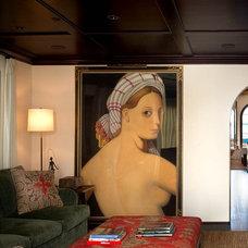 Mediterranean Family Room by Chris Barrett Design