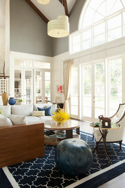 Transitional Family Room by Jackson Paige Interiors, Inc.