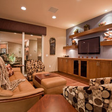 Contemporary Family Room by An Interior Motive Designs LLC