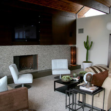 Contemporary Family Room by SoCal Contractor