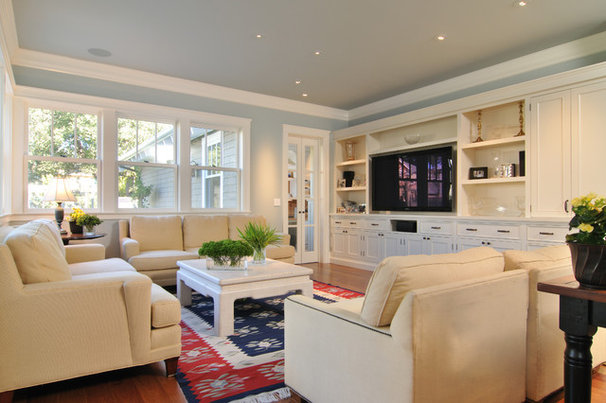 Craftsman Family Room by FGY Architects