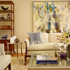 Transitional Family Room by Melanie Coddington
