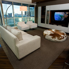 Contemporary Family Room by ELEVATE interiors + design