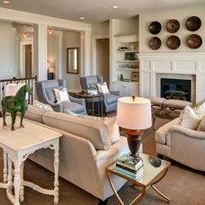 Traditional Family Room by Brighton Homes Utah